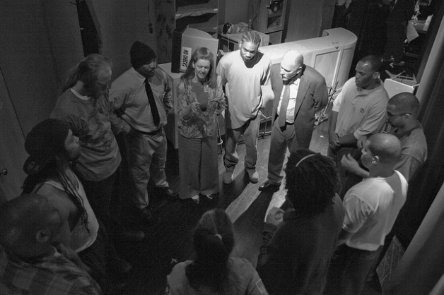 In-our-circle-backstageBW